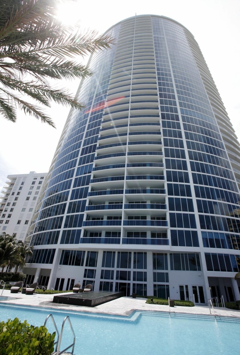 Trump Hollywood condominiums, where José Susumo Azano Matsura owns a unit on the 40th floor. [AP file]