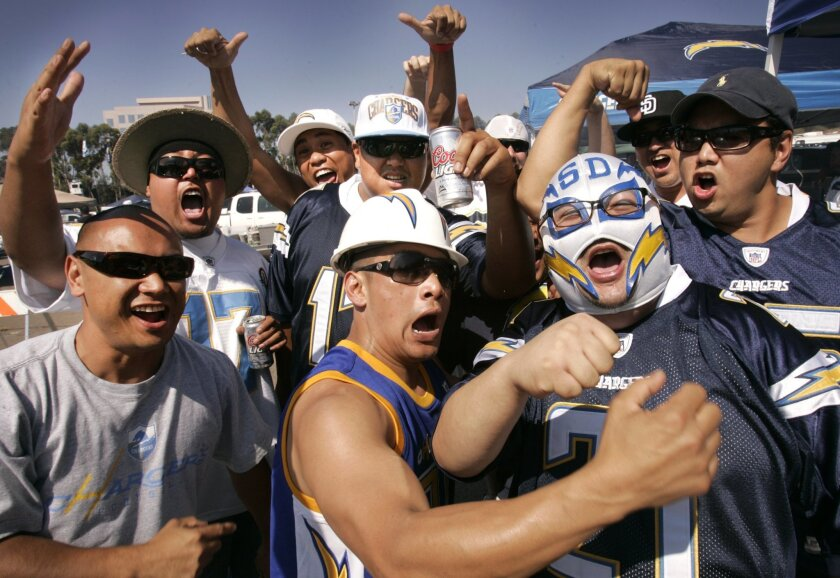Chargers fans were ready for some football Sunday.
