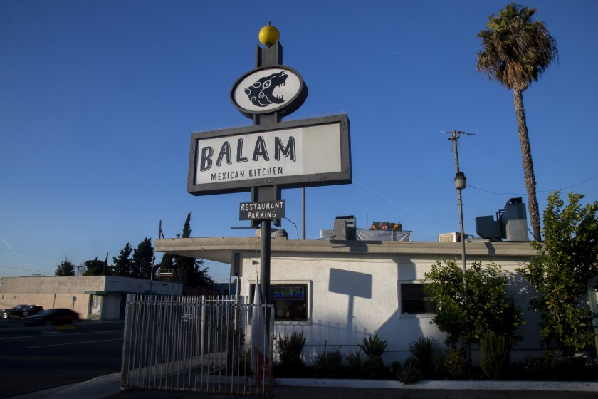 The exterior of Balam Mexican restaurant