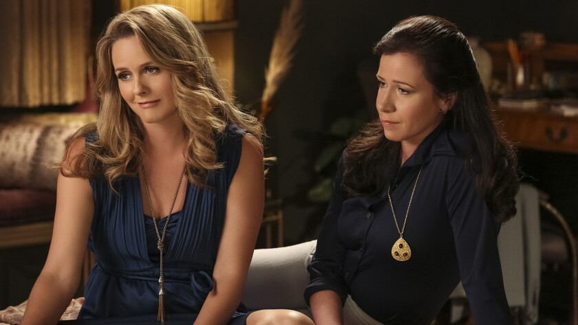 """Alicia Silverstone, left, and Jennifer Bartels in """"American Woman"""" on Paramount."""