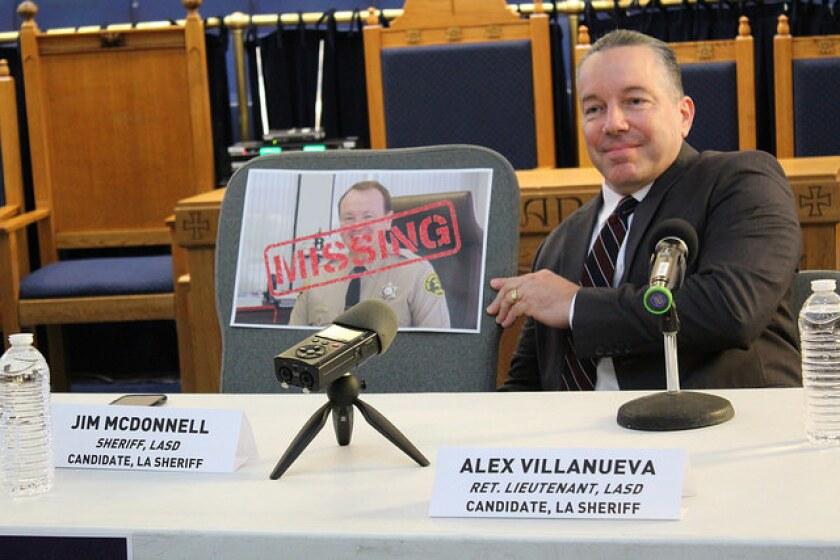 Alex Villanueva asegura que el Departamento del Sheriff ha perdido el rumbo bajo el mando del sheriff Jim McDonnell. Villanueva busca reemplazarlo en el cargo.