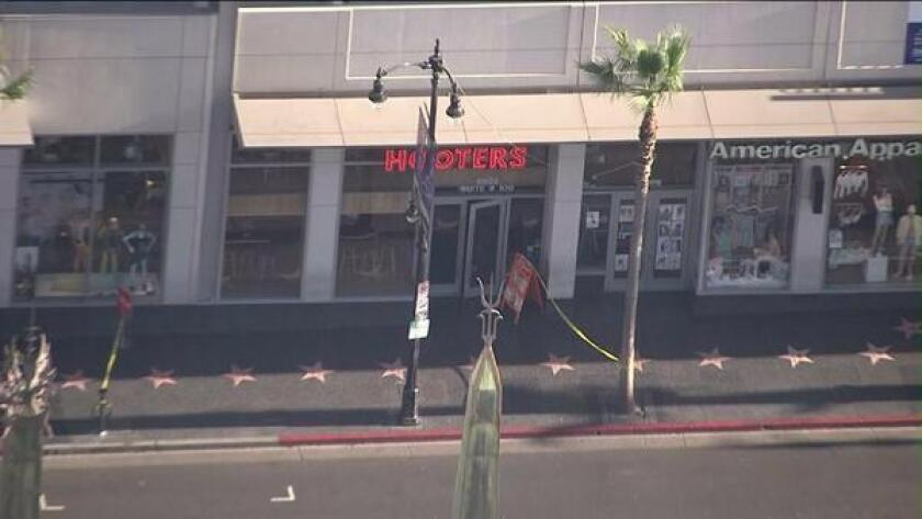 Bomb threat at Hooters closes Hollywood Boulevard