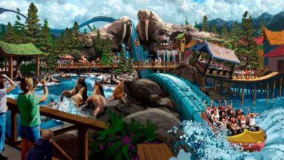 SuperSplash water ride