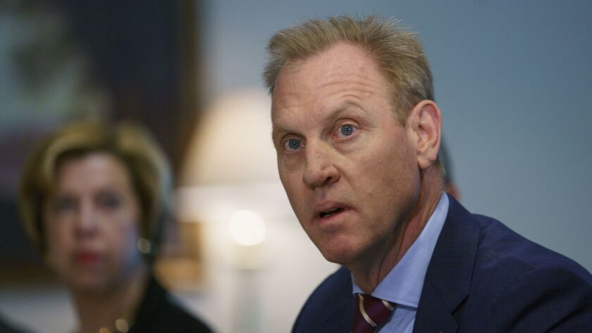 Acting Secretary of Defense Patrick Shanahan speaks Jan. 16 at the Pentagon. He's considered a leading candidate for the permanent post.