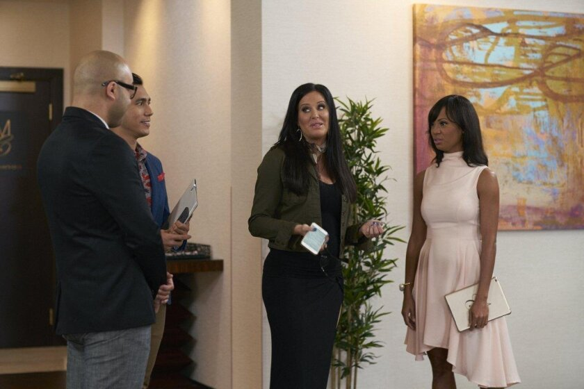 "Patti's Millionaires Club  User Upload Caption: ""Million Dollar Matchmaker"" Patti Stanger (center) and her crew filmed the season at Harrah's Resort Southern California."
