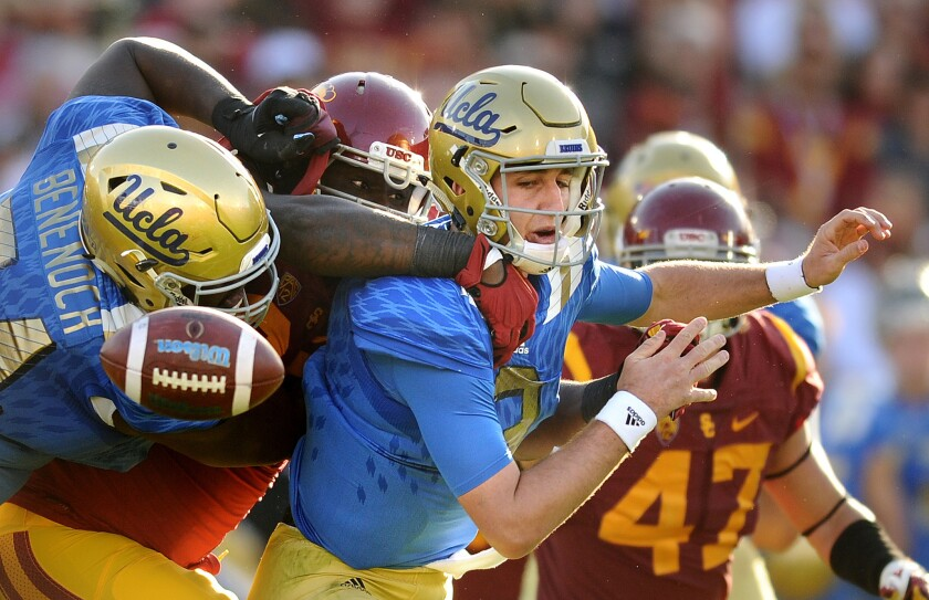 Josh Rosen is good, and USC's defenders were happy to see him