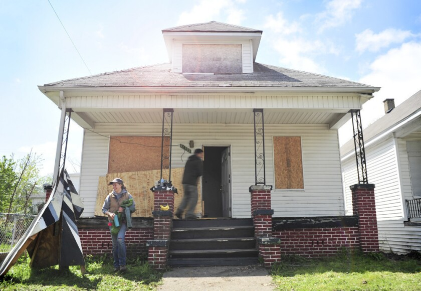 The Peach is one of the Detroit houses that will be given to a writer by the Write a House project.