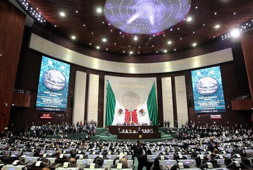 El izquierdista Movimiento de Regeneración Nacional (Morena), liderado por Andrés Manuel López Obrador, presentó hoy en el Senado un proyecto de ley que permitirá al presidente mexicano participar en la designación del fiscal general, en contra de lo que solicitan activistas. EFE/ARCHIVO