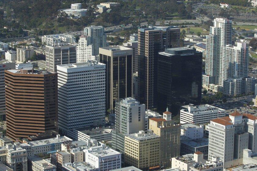 Buildings in downtown San Diego.