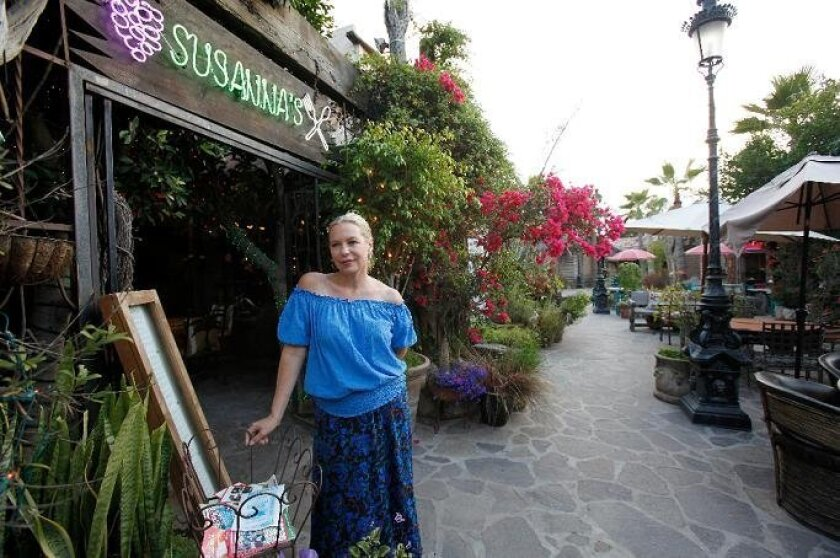 """Restaurateur Susanne Stehr, who owns Susanna's, is one of many American expatriates who run businesses and live in Rosarito Beach and are having trouble because of the decrease in tourism. """"We're dying down here because people are afraid to come, and it's as lovely as it's always been,"""" Stehr said."""