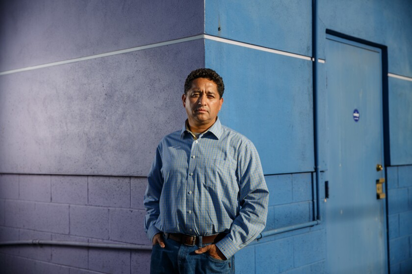 Armando Arorizo has a gallery in the purple building on Crenshaw Boulevard, which the new owner hope