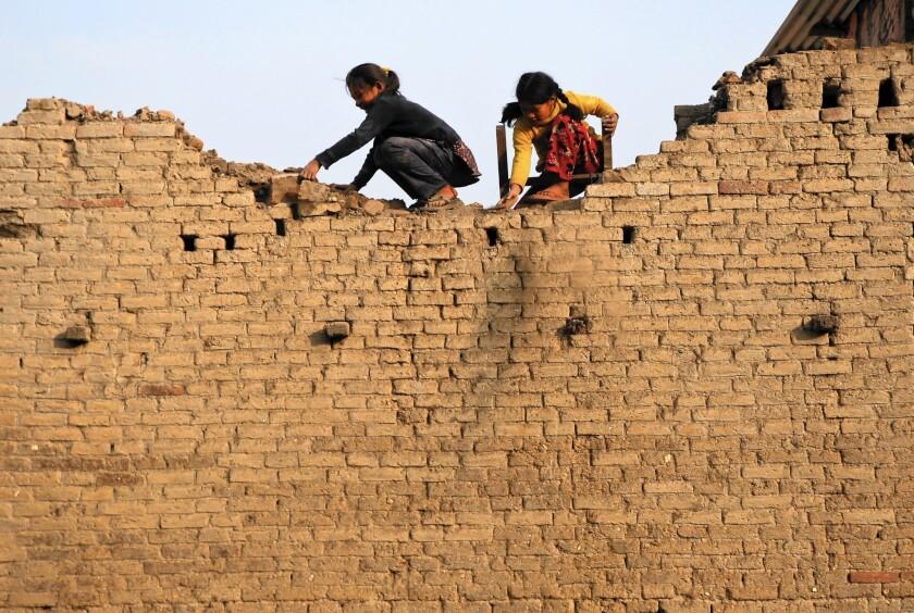 Earthquake survivors in Nepal