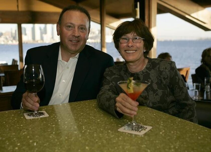 David and Leslie Cohn, owners of the Cohn Restaurant Group, at their restaurant Island Prime on Harbor Island.