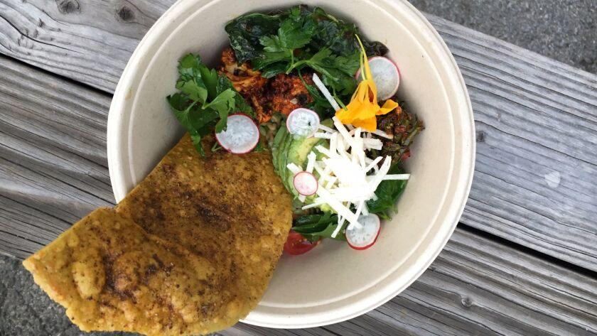 Taco salad bowl by Rosio Sanchez and Jessica Koslow.
