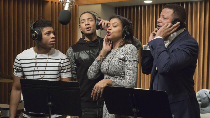 In this image released by Fox, Bryshere Gray, from left, Jussie Smollett, Taraji P. Henson and Terre
