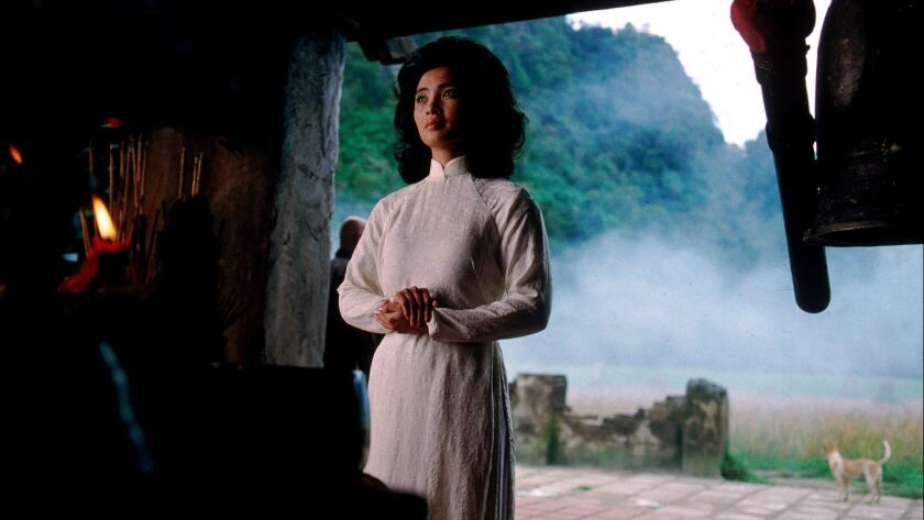 """Actress Hiep Thi Le in a scene from the Oliver Stone movie """"Heaven & Earth."""" Le has died in Los Angeles of complications from stomach cancer. She was 46."""