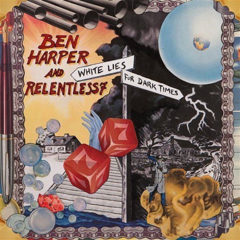 """In this CD cover image released by Virgin Records, the latest by Ben Harper and Relentless7, """"White Lies for Dark Times"""" is shown. (AP Photo/Virgin)"""