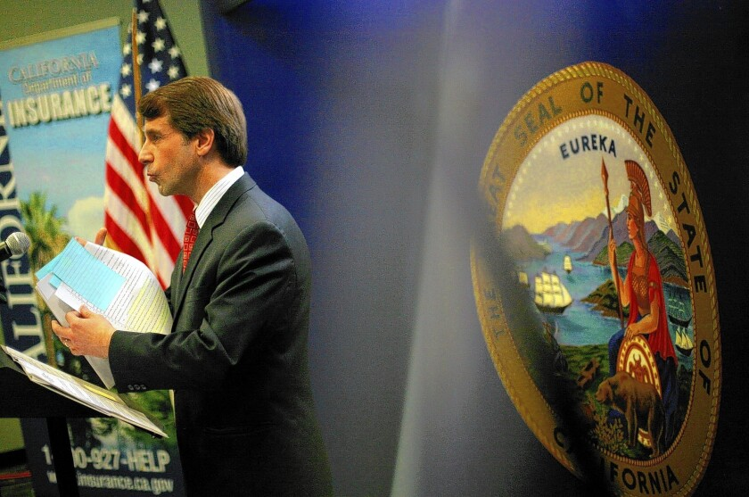"""""""The rate increase from 2013 to 2014, on average, was significantly higher than rate increases in the past,"""" said Insurance Commissioner Dave Jones, shown in 2011."""