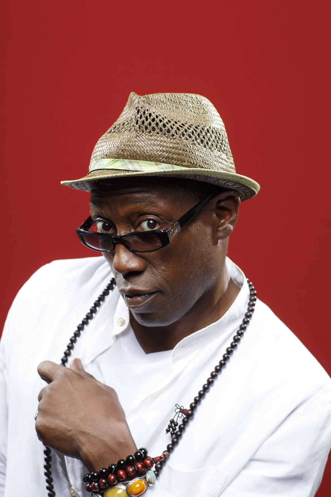 """Wesley Snipes from the film """"Cut Throat City,"""" photographed in the L.A. Times Photo and Video Studio at Comic-Con 2018."""