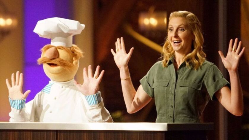 "The Muppets' Swedish Chef, left, joins Christina Tosi in ""MasterChef: Junior Edition"" on Fox."