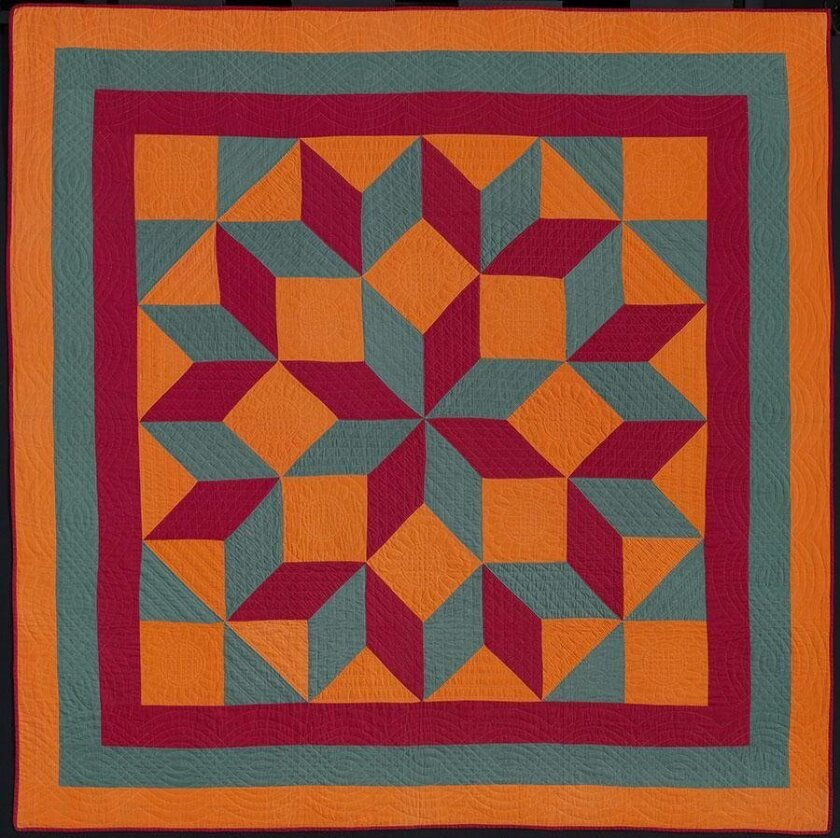 One of the 45 quilts on display through summer at The San Diego Museum of Art in Balboa Park.