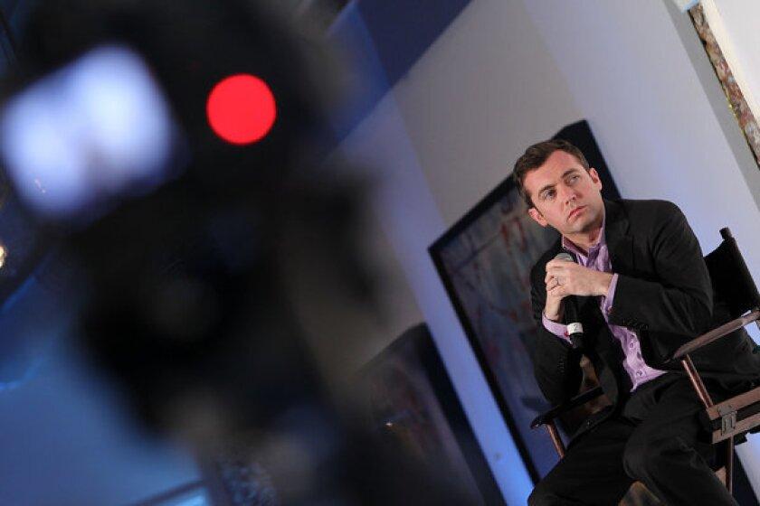 Journalist Michael Hastings in Washington in May. He died last week in a one-car crash in Los Angeles.