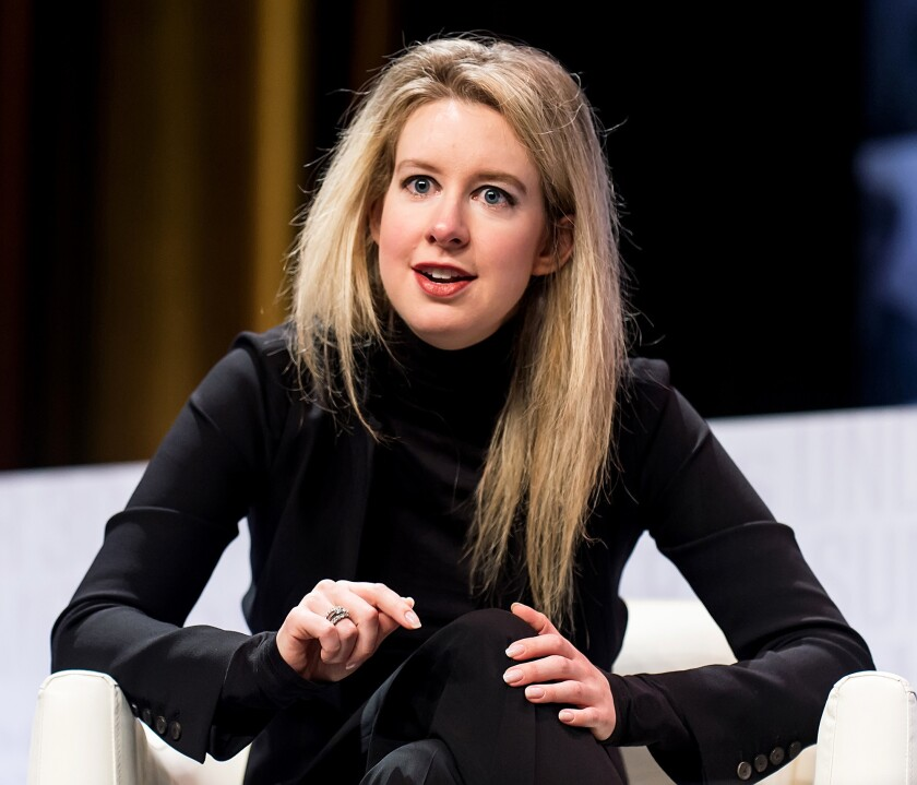 Theranos founder and Chief Executive Elizabeth Holmes in 2015.