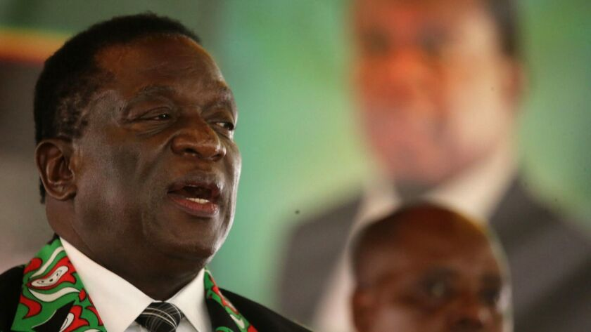 Zimbabwean President Emmerson Mnangagwa opens Zanu-PF congress, Harare, Zimbabwe - 15 Dec 2017