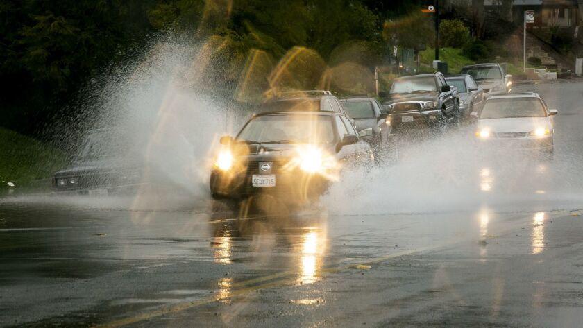 Rain in Southeastern San Diego