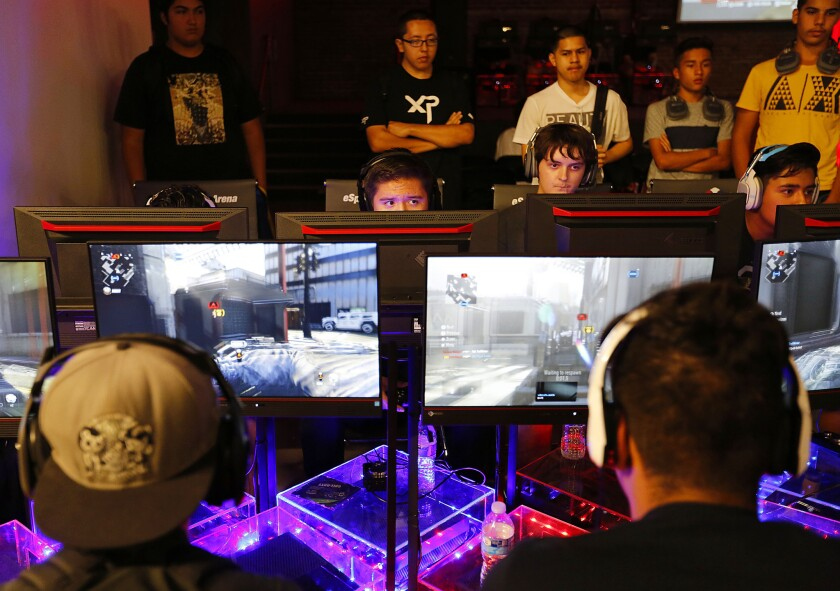 """A new venue for video game competitions, eSports Arena, is hosting a """"Call of Duty"""" tournament throughout the weekend."""