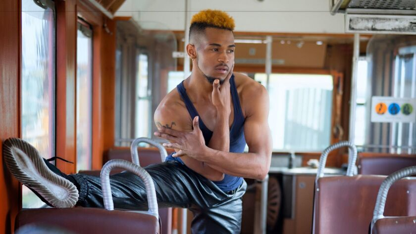 "Ron ""RJ"" Davis, 27, pictured at the National City Depot museum, has performed in San Diego for more than a decade. He's now dipping his toe into choreography by creating a dance for the transcenDANCE Youth Arts Project. (Nelvin C. Cepeda / San Diego Union-Tribune)"