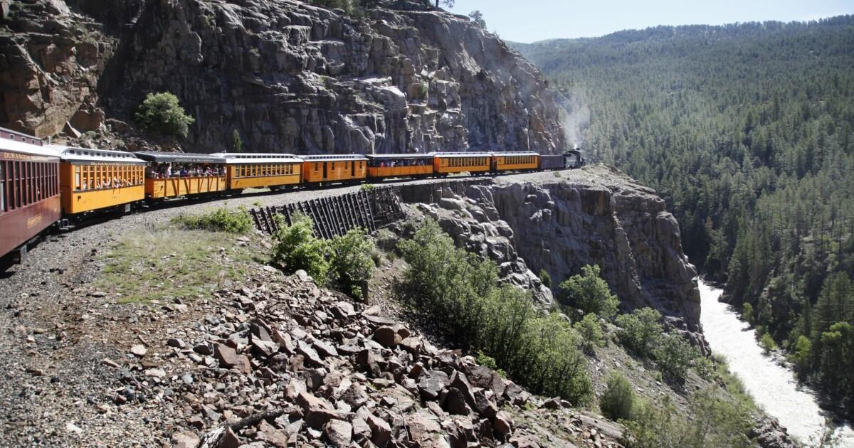 Colorado Durango /& Silverton Narrow Gauge Railroad Locomotive,Train Postcard