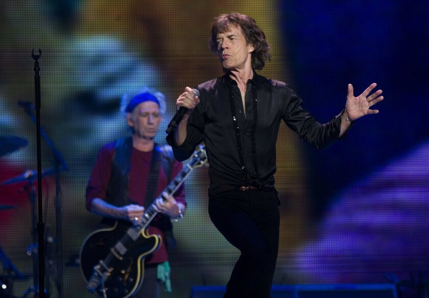 "Keith Richards and Mick Jagger have been there from the start. They get the night started early with ""This Could be the Last Time"" during their 50 and Counting tour at Staples Center."