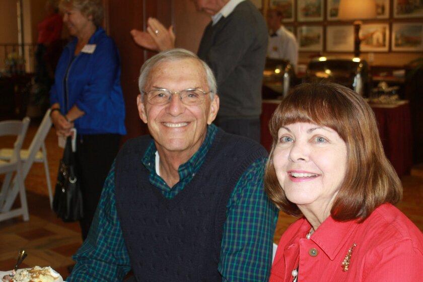 Prospective residents Thomas and Linda Baker get a taste of the food served at Casa de Mañana.
