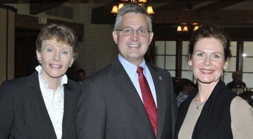 Lael Jackson, Solana Beach Councilman Dave Roberts, Solana Beach Mayor Lesa Heebner (Photo: Rob McKenzie)