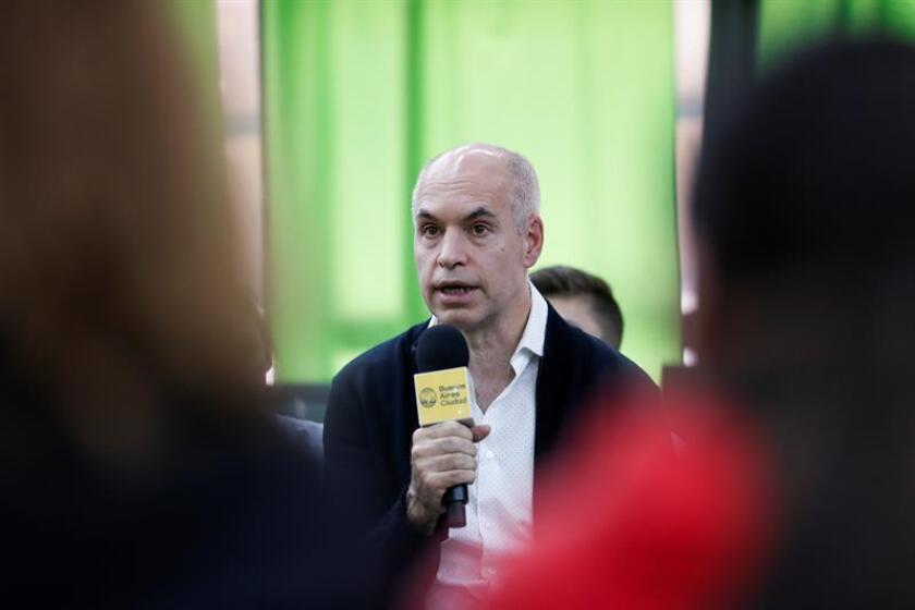 En la imagen un registro del jefe de gobierno de la ciudad de Buenos Aires, Horacio Rodriguez Larreta, quien será el anfitrión de la primera reunión de Alcaldes Urban 20. EFE/Archivo