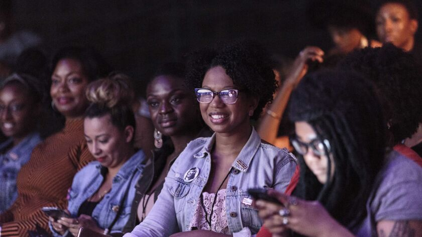 Glory Edim in the audience at the 2017 inaugural Well-Read Black Girl Writers' Conference and Festival.