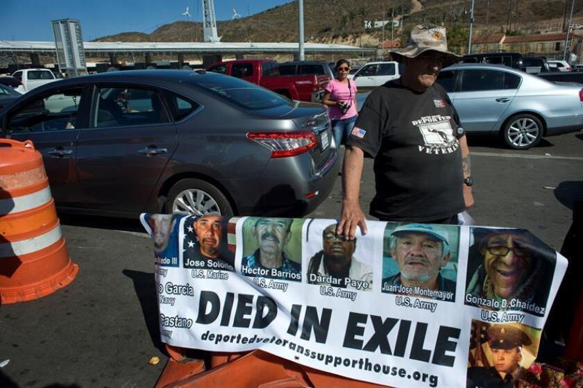 Los Servicios de Inmigración y Ciudadanía (USCIS) negaron hoy la ciudadanía al veterano de guerra de origen mexicano Miguel Pérez Jr., quien lucha contra la deportación a pesar de ser residente permanente en Estados Unidos. EFE/ARCHIVO