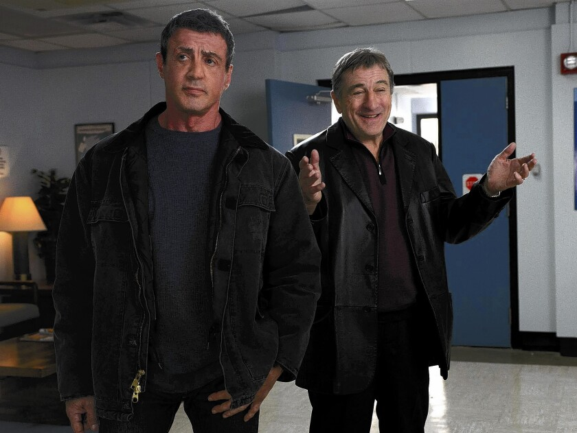 "Sylvester Stallone, left, and Robert De Niro star in ""Grudge Match."""