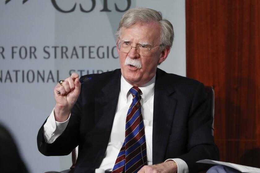Former national security advisor John Bolton in Washington in September.