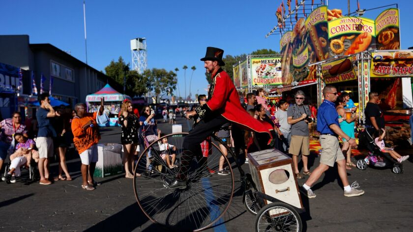 PAMONA, CA - SEPTEMBER 2, 2016: The parade going though the L.A. County Fair at Fairplex in Pamona,