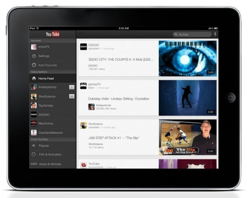YouTube releases app optimized for Apple's iPhone 5, iPad