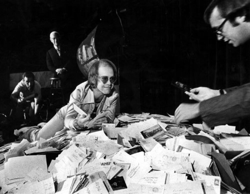 Elton John and Bernie Taupin at the Troubadour in 1975