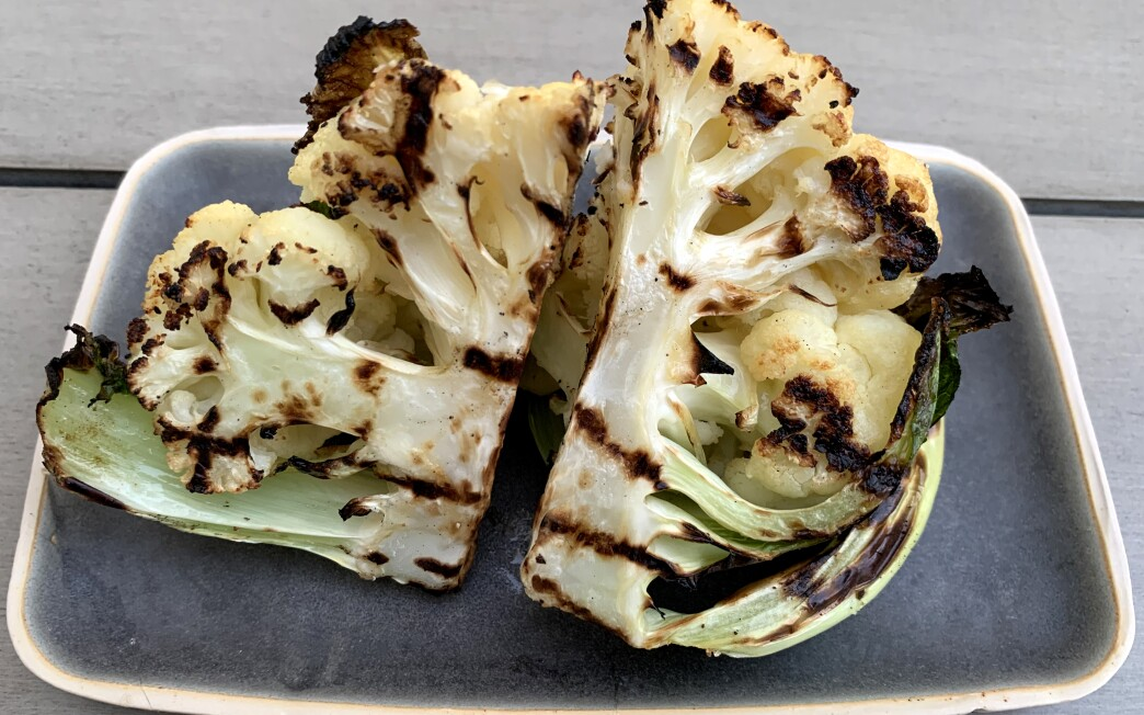 Grilled cauliflower recipe by Genevieve Ko.