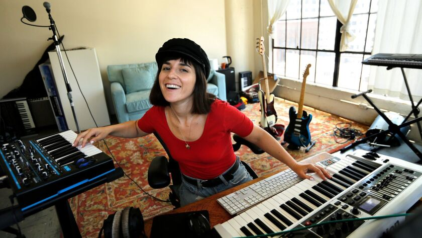 LOS ANGELES, CA-JUNE 24, 2016: Ramona Gonzalez, who records quiet disco and new-era R &B music as N