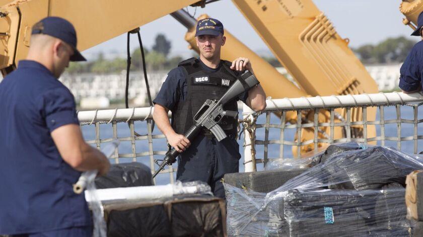Cocaine unloading from Coast Guard ship