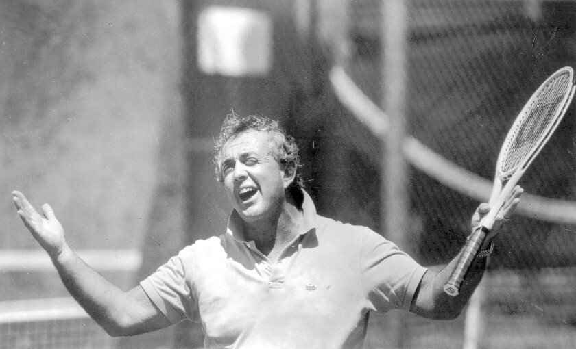 Vic Braden in 1985. Braden, who wrote books and made videos on playing tennis, did as much or more to foster interest in the sport as top-ranked players such as John McEnroe and Bjorn Borg.