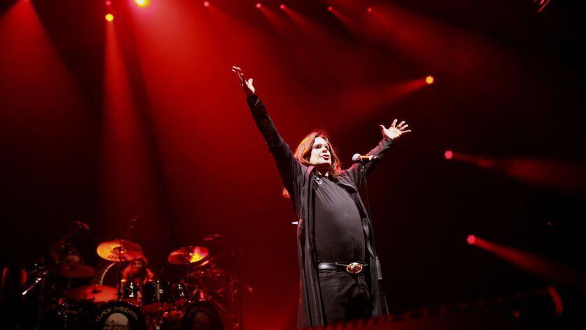 LOS ANGELES, CA-SEPTEMBER 3, 2013: Heavy metal stalwarts Black Sabbath rocked the Los Angeles Sports