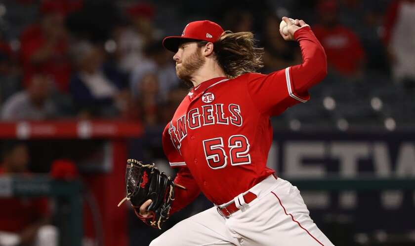 Angels pitcher Dillon Peters put in a solid performance Sept. 24 in a 3-2 win over the Oakland Athletics.