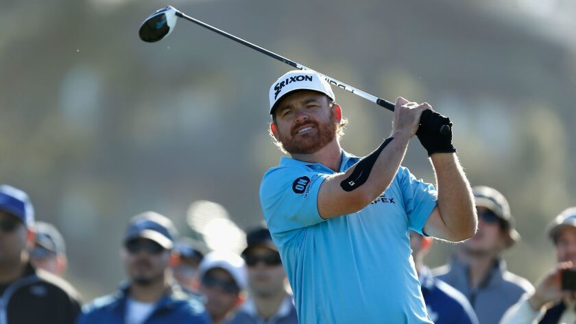 J.B. Holmes is two strokes off the lead coming into Sunday's final round of the Farmers Insurance Open at Torrey Pines.